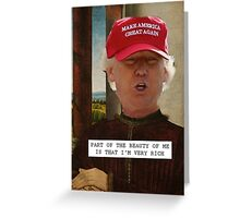 Saintly Celeb - Donald Trump Greeting Card