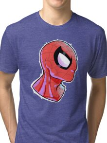 The Amazing Spider-Bust Tri-blend T-Shirt