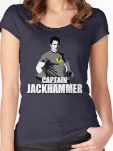 CAPTAIN JACKHAMMER Women's Fitted Scoop T-Shirt