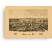 Panoramic Maps Middleville NY Canvas Print