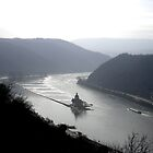 Rhine at Kaub, Germany by Katy Marriott
