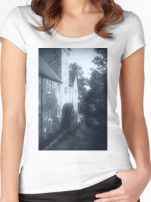 Riverside Mill, Bovey Tracey, Devon, United Kingdom. Women's Fitted Scoop T-Shirt