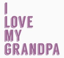 I Love My Grandpa Baby Tee