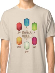Legend of Zelda The Rupees Geek Line Artly Classic T-Shirt