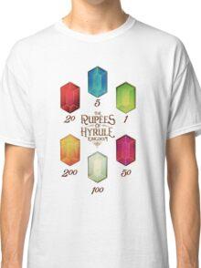 Legend of Zelda The Rupees Geek Line Artly Classic T-Shirt