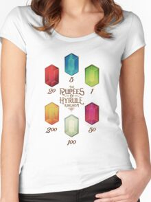 Legend of Zelda The Rupees Geek Line Artly Women's Fitted Scoop T-Shirt
