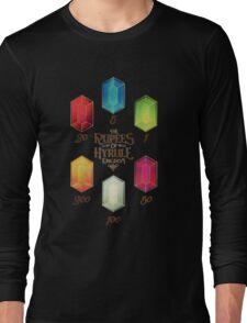 Legend of Zelda The Rupees Geek Line Artly Long Sleeve T-Shirt
