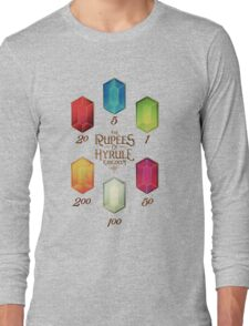 Legend of Zelda The Rupees Geek Line Artly Long Sleeve T-Shirt