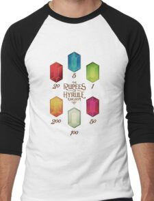 Legend of Zelda The Rupees Geek Line Artly Men's Baseball ¾ T-Shirt
