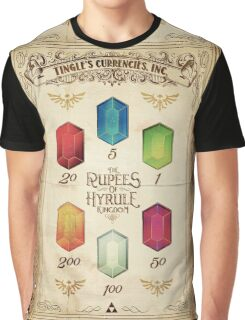 Legend of Zelda The Rupees Geek Line Artly Graphic T-Shirt