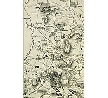 Old Northamptonshire map - Daventry Photographic Print