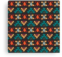 Ethnic seamless pattern. Aztec geometric background. Hand drawn navajo fabric. Modern abstract wallpaper. Vector illustration. Canvas Print