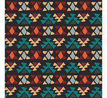 Ethnic seamless pattern. Aztec geometric background. Hand drawn navajo fabric. Modern abstract wallpaper. Vector illustration. Photographic Print