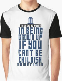 Doctor Who TARDIS Quote Graphic T-Shirt