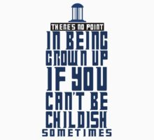 Doctor Who TARDIS Quote Baby Tee
