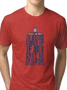 Doctor Who TARDIS Quote Tri-blend T-Shirt