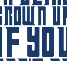Doctor Who TARDIS Quote Sticker