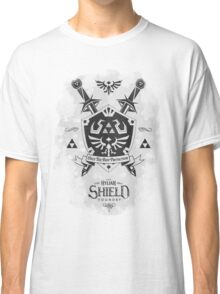 Legend of Zelda Hylian Shield Geek Line Artly  Classic T-Shirt