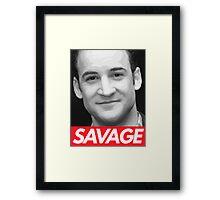 Stay Savage Framed Print