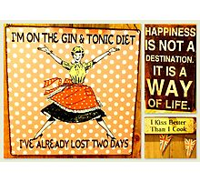 Happiness is a way of life! Photographic Print