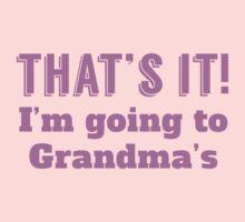 I'm Going To Grandma's Kids Tee