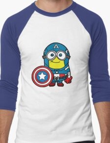 Captain Minerica Men's Baseball ¾ T-Shirt