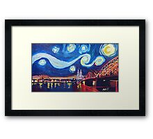 Starry Night in Cologne - Van Gogh Inspirations Framed Print
