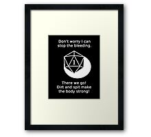 D20 Critical failure - Medicine  Framed Print