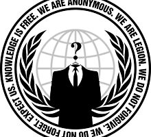 Anonymous Logo with Slogan by Meje