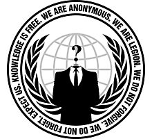 Anonymous Logo with Slogan Photographic Print