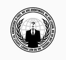 Anonymous Logo with Slogan Unisex T-Shirt