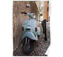 Italian Vespa Scooter Poster