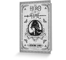 Legend of Zelda Link Hero of Time Geek Line Artly Greeting Card