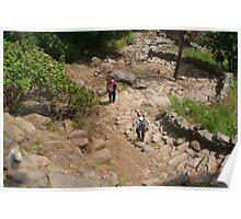 Descending Steps near Tikhedhunga Poster