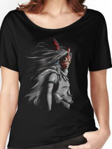 Mononoke Wolf Anime Tra Digital Painting Women's Relaxed Fit T-Shirt