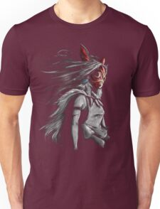 Mononoke Wolf Anime Tra Digital Painting Unisex T-Shirt