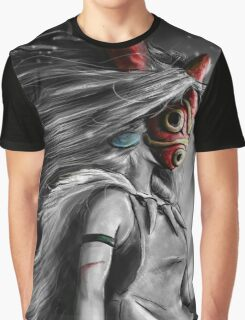 Mononoke Wolf Anime Tra Digital Painting Graphic T-Shirt