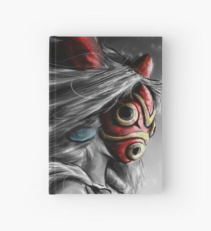 Mononoke Wolf Anime Tra Digital Painting Hardcover Journal