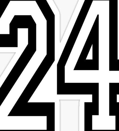 24, TEAM, SPORTS, NUMBER 24, TWENTY, FOUR, Competition,  Sticker