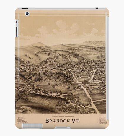 Panoramic Maps Brandon Vt iPad Case/Skin