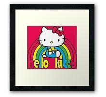 Hello Kitty Rainbow Framed Print