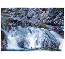 Mountain cascade Poster