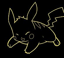 Neon Pikachu by paterack