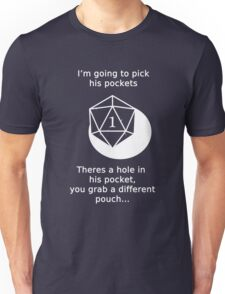 D20 Critical failure - Sleight of Hand Unisex T-Shirt