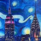 Starry Night in New York - Van Gogh inspired by artshop77