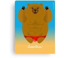SWIM BEAR! Canvas Print
