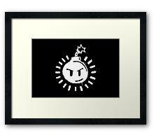 Funny Bomb - Black T Framed Print