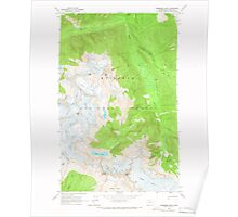USGS Topo Map Washington State WA Forbidden Peak 241150 1963 24000 Poster