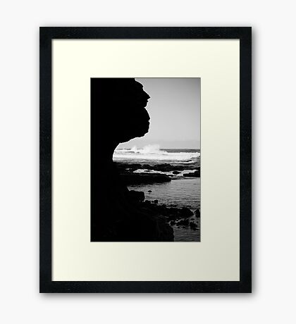 The Cold Sea Framed Print