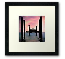 West Pier Silhouette Framed Print